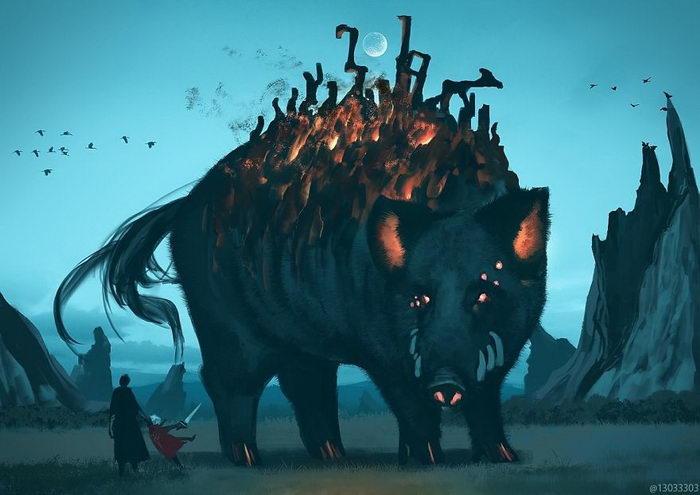 Гигантские звери и маленькие люди