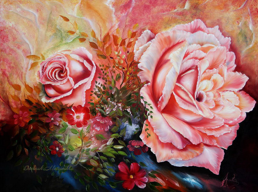 Когда цветы цветут, художник Ilona Tigges-Goetze
