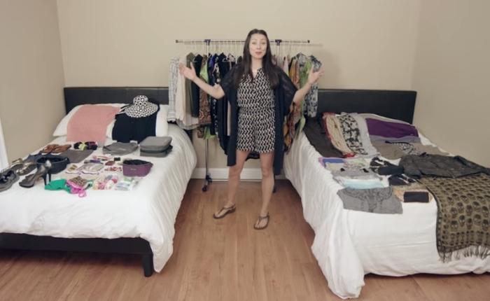 Как упаковать 100 вещей в один чемодан