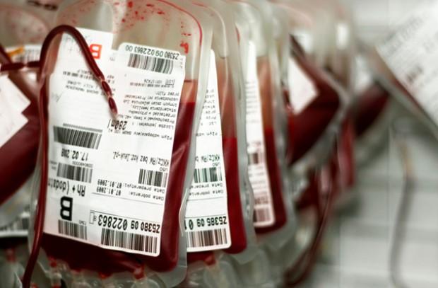 Пакеты с донорской кровью
