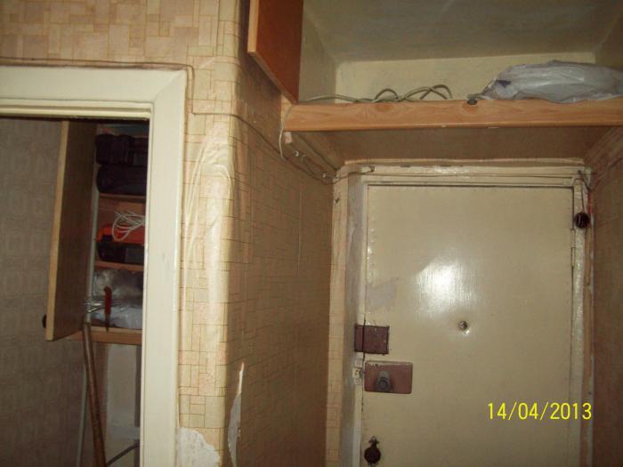 отделка входной двери в хрущёвке