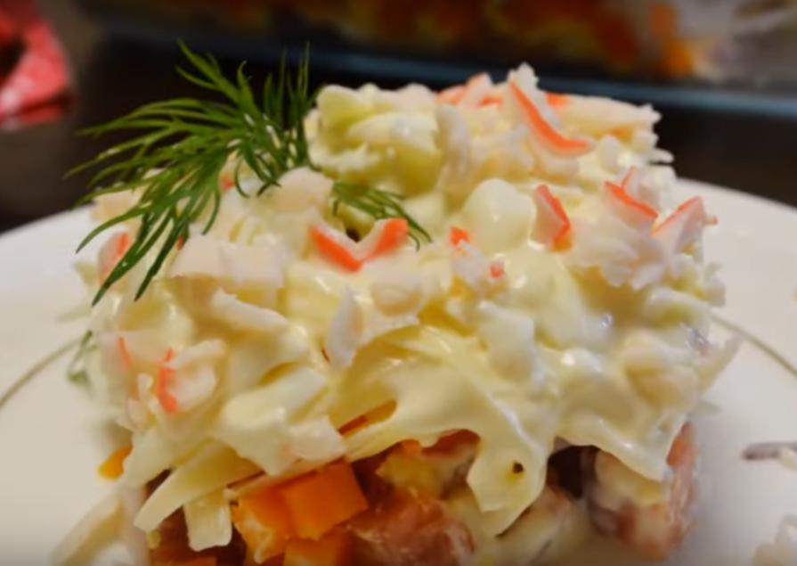 Очень вкусный рыбный салат
