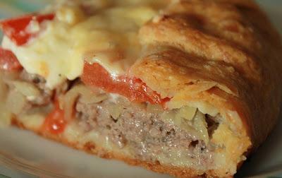 Деревенский мясной пирог на …