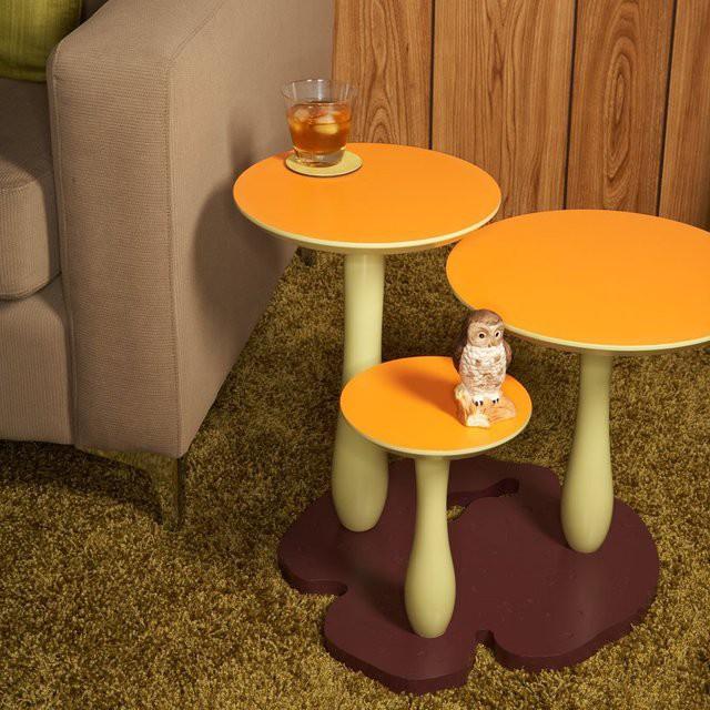 Придиванный столик в виде гриба гаджет, дизайн, креатив