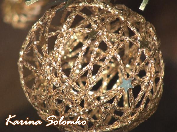 Новогодний шар из ниток