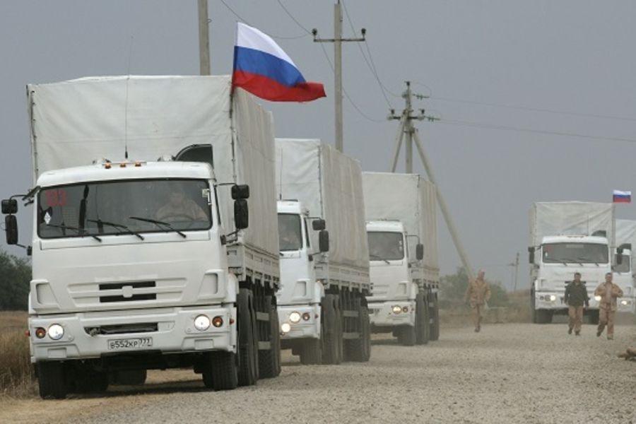 В Донбасс прибыла колонна с гуманитарным грузом от миллиардера Ахметова