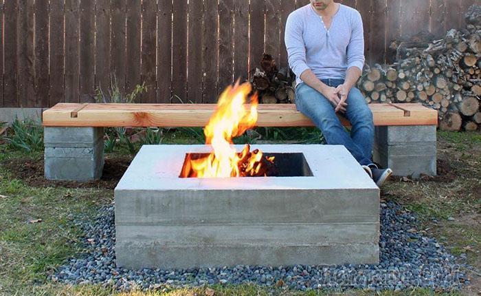 Как сделать бетонную лавочку для сада своими руками