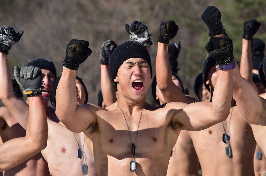 Зимние учения южнокорейского спецназа