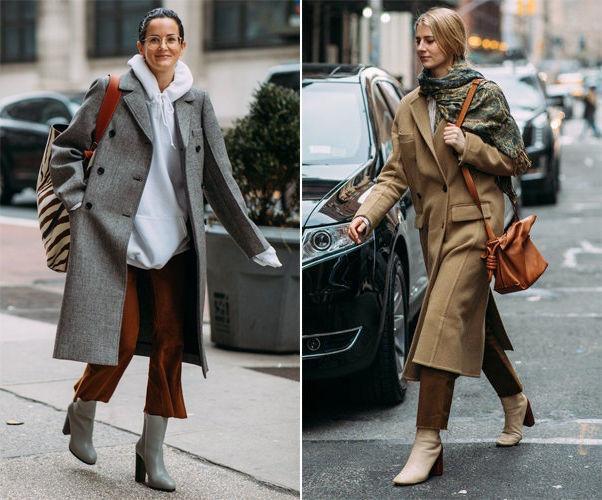 с какой обувью носить пальто фото