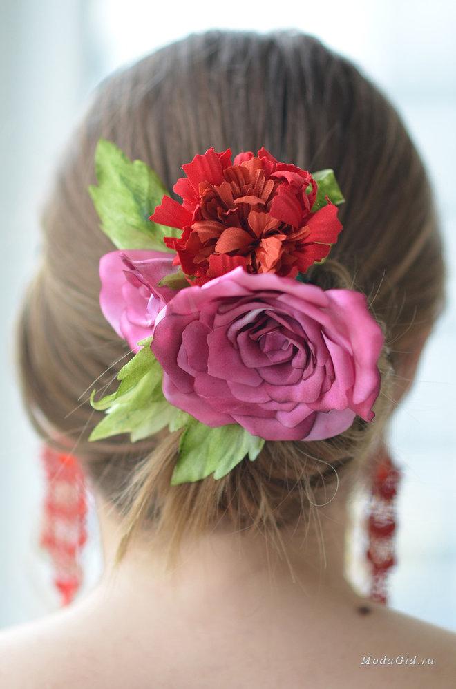 Сделать розы из ткани своими руками фото