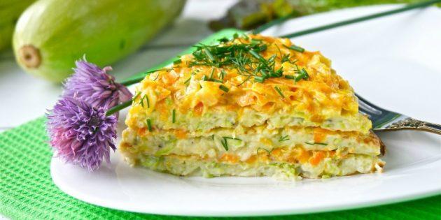 Блюда из кабачков: Торт из кабачков