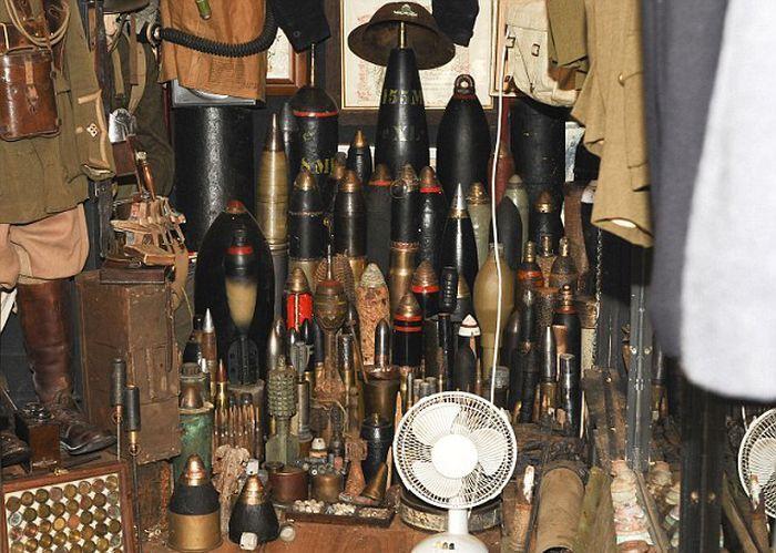 Арсенал эпохи Первой мировой в неприметном сарайчике арсенал, сарай
