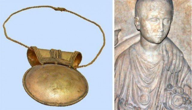 Вот пример такого амулета практически в идеальном состоянии и его изображение на древнеримском барельефе Клады, археология, интересно, история, сокровища