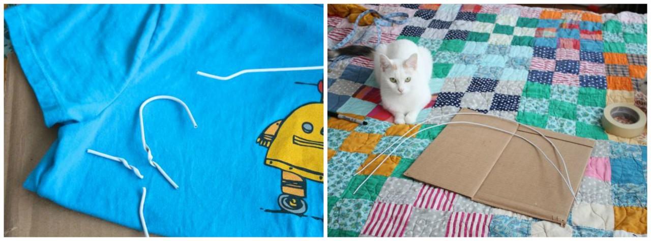 картинки домик для кошки из футболки