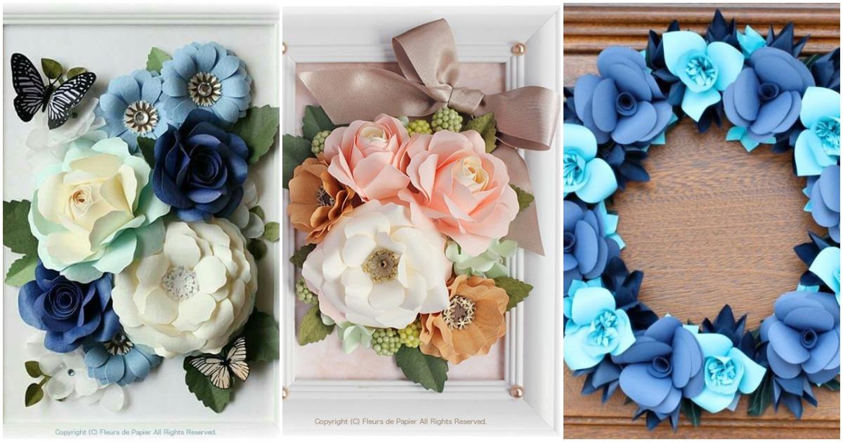 Бесподобные цветы из простой бумаги — 30 замечательных идей