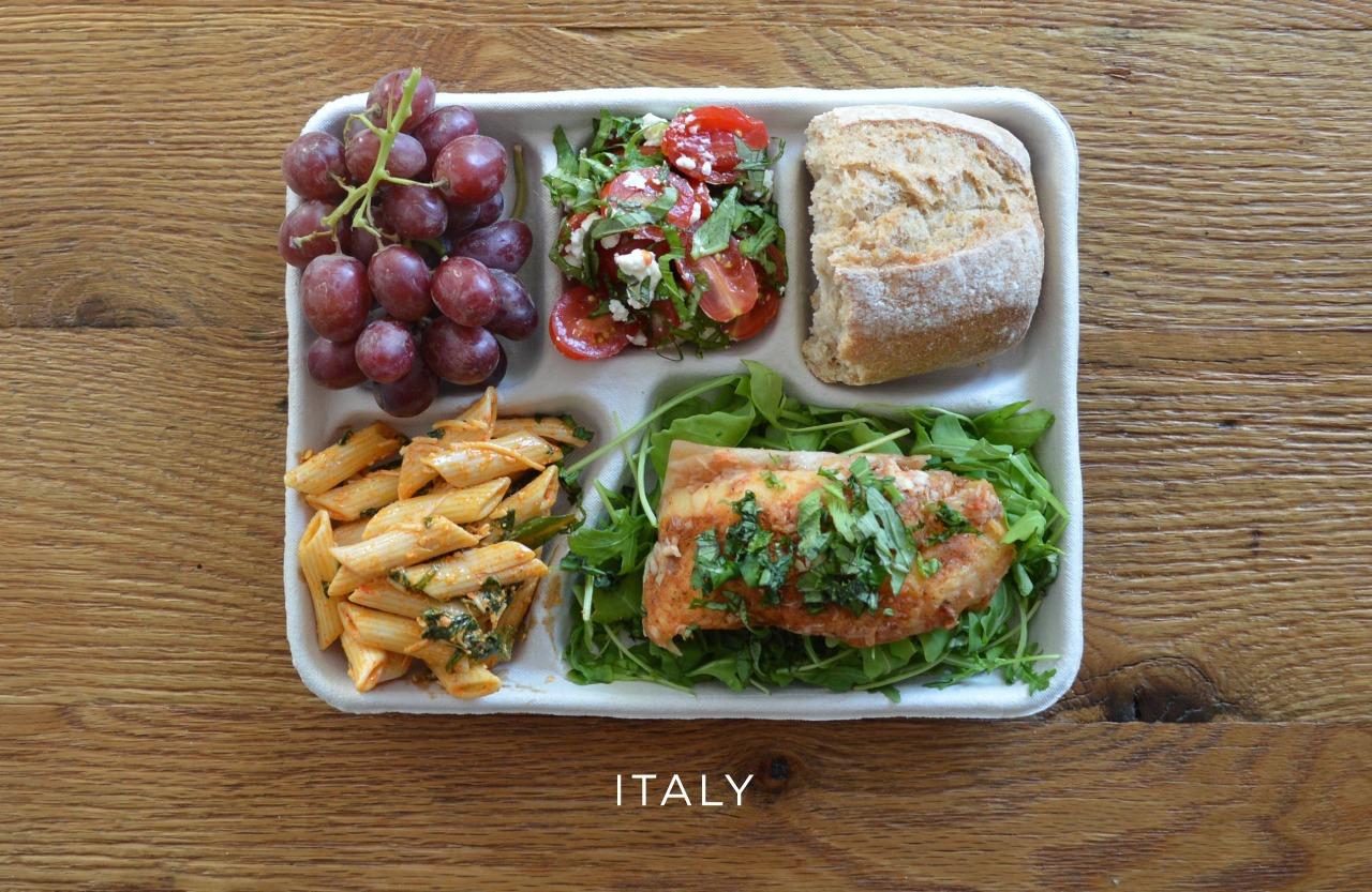 Италия ланч, обед, рацион, школа, школьный обед