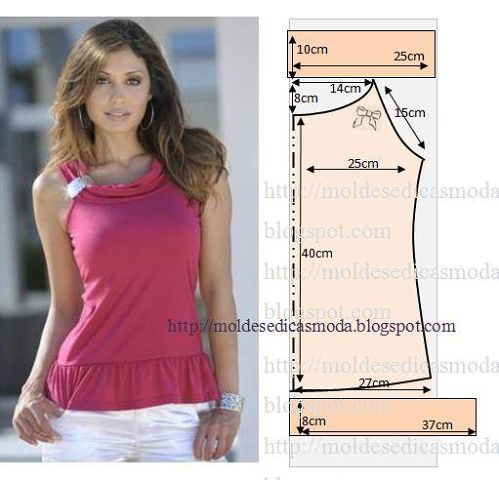 Простые выкройки летних блузок №4