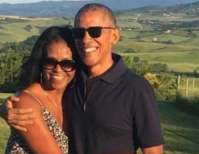 Барак и Мишель Обама стали к…