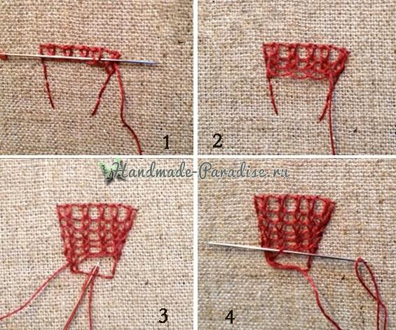 Объемная вышивка «Зонтик» (7)