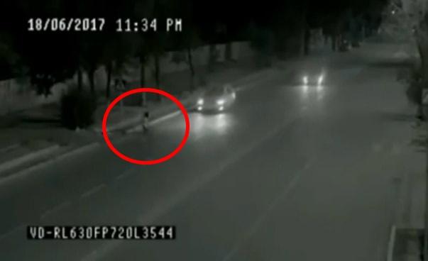 Человек-″призрак″, попавший на камеру, спасает девочку