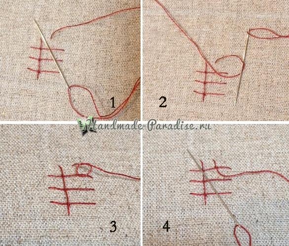 Объемная вышивка «Зонтик» (5)