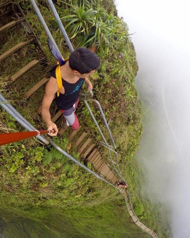 3. Лестница Хайку на Гавайях в мире, высота, кадр, красота, люди, фото