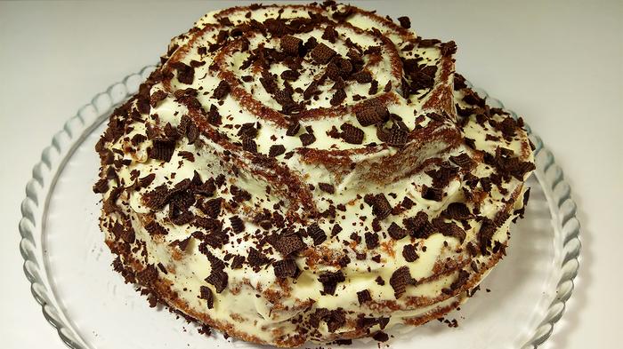 Торт за 15 минут вместе с выпечкой