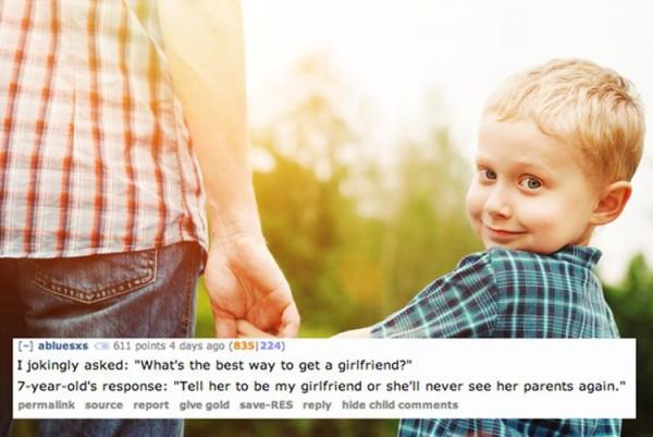 11 пугающих фраз из уст детей