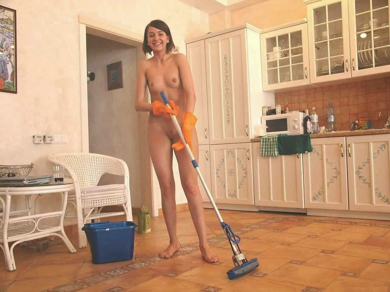 Topless Housework