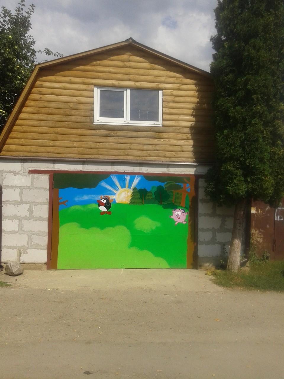 Смешарики & Гараж гараж, краски, смешарики.