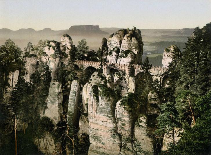 Цветные фотографии довоенной Германии