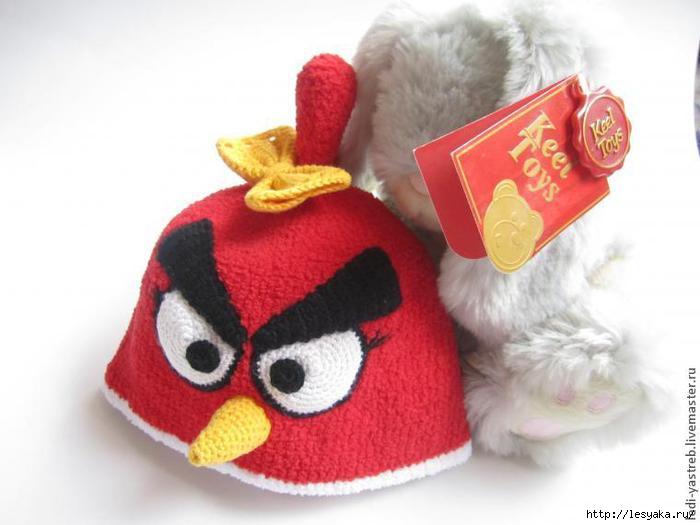 Вязаная шапочка Angry Birds - мастер-класс