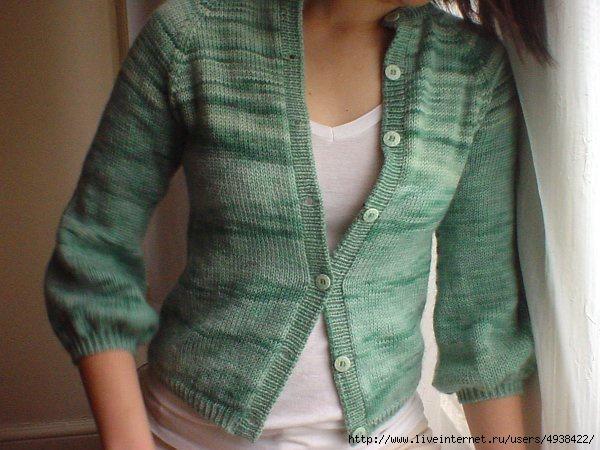Как разрезать связанную вещь - превращение свитера в кардиган