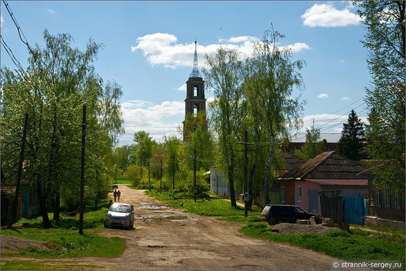 Весенняя прогулка в провинциальный русский город