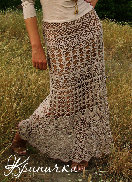 Вязание крючком: чудная юбка