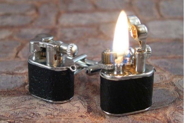Запонки-зажигалки для Бонда