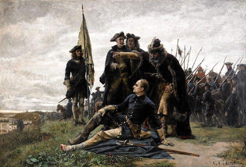 Карл XII и Мазепа . в(на)украина, мазепа, флаг