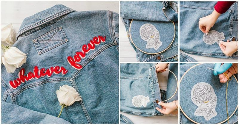Вышивка на джинсовой ткани — проще и увлекательнее, чем вязание
