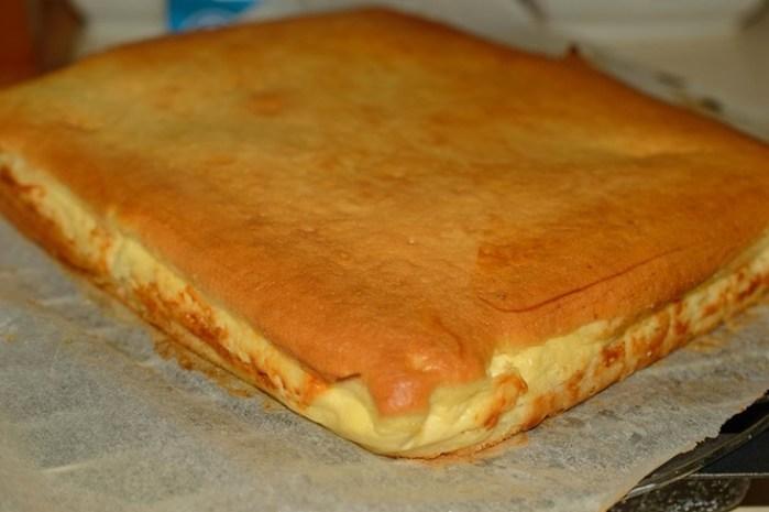 Наливной пирог с творогом — …