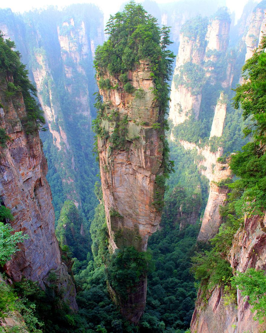 3. Горы Тяньцзи, Китай земля, красота, планета, природа