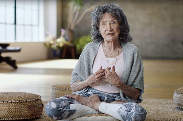 Моему сердцу всего 20! Секреты 99-летней преподавательницы йоги