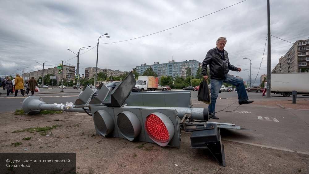 Столкновение двух легковушек на площади Ленина в Рязани попало на видео