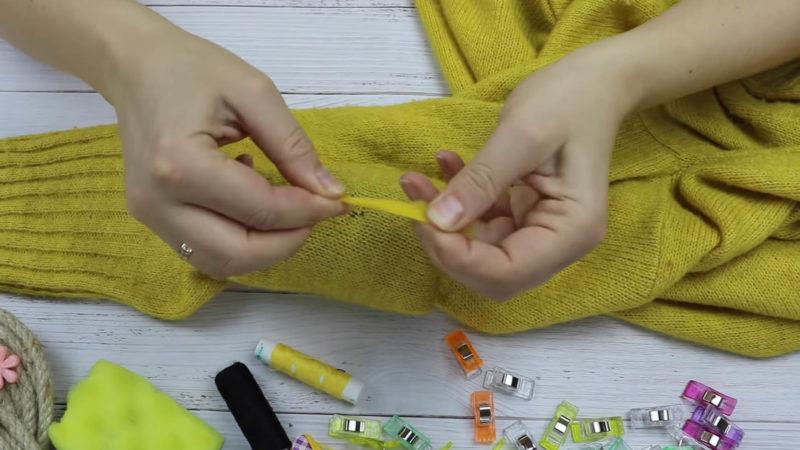 Появилась дырка на вязаной вещи? Берите на вооружение простую идею вязание,мастер-класс,одежда,шитье