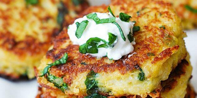 Рецепты: Оладьи из кабачков