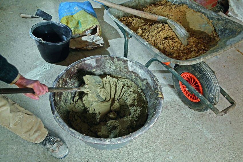 как наводить раствор цемента