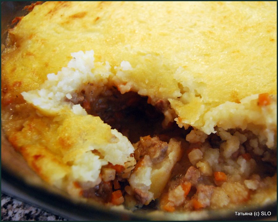 Cottage Pie - английская классика. Фото-рецепт.