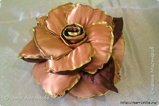 Подушка роза своими руками выкройки фото фото 92