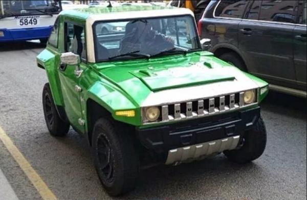 «Ока», переделанная в Hummer, изумила автолюбителей