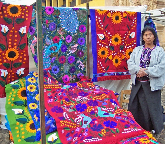Мексиканская вышивка по текстилю — тенангос, как предмет национальной гордости
