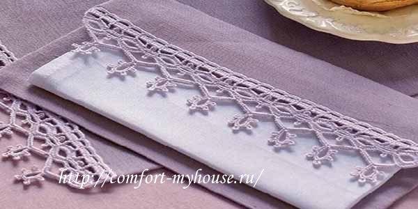 Украшаем столовые салфетки вязаной каймой